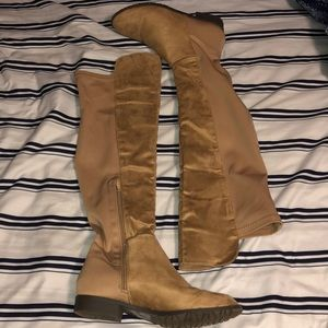 Charlotte Russe Shoes - Suede Over the Knee Boots